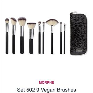 Morphe 502 9 Vegan Brush Set with Zip Case